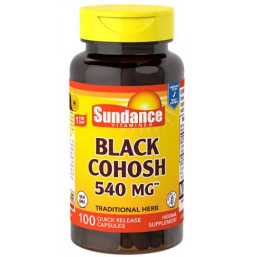 อาหารเสริม Sundance Black Cohosh 540 mg, 100 Count