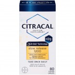 Calcium Citracal with Calcium D Slow Release 1200, 80-Count