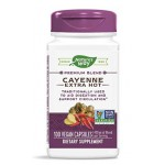 สารสกัดพริก Nature's Way Cayenne Extra Hot 100, 000 HU Potency, 100 Vcaps by Nature's Way