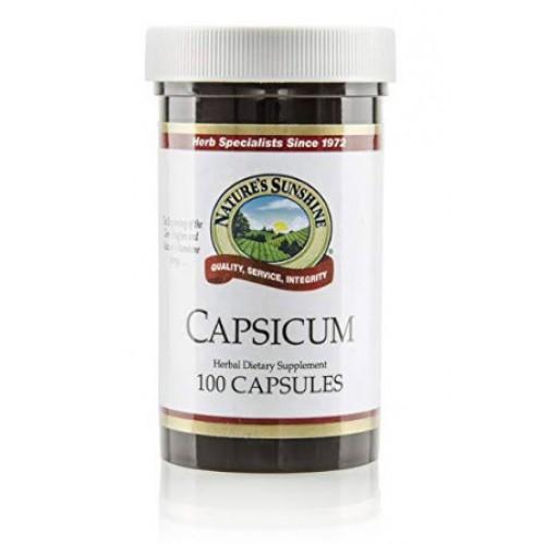 สารสกัดพริก Nature's Sunshine Capsicum, 100 caps, Kosher by Nature's Sunshine