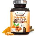 อาหารเสริมขมิ้นชันยี่ห้อ Turmeric Curcumin 120 Capsules by Nature's Nutrition