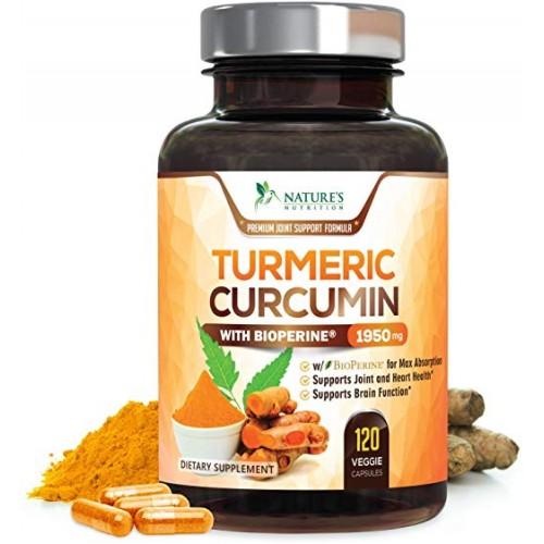 อาหารเสริมขมิ้นชันยี่ห้อ Turmeric Curcumin 120 Capsules by Nature's Nutrition ราคา