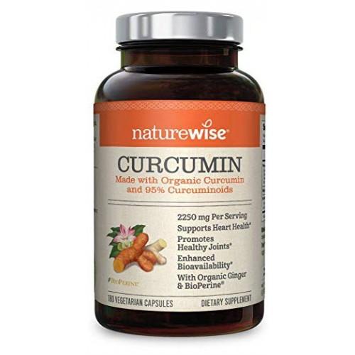 อาหารเสริมขมิ้นชันยี่ห้อ NatureWise Organic Curcumin Turmeric 180 Capsules by NatureWise