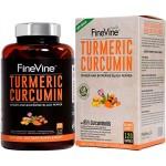 อาหารเสริมขมิ้นชัน Turmeric Curcumin 120 Capsules by FineVine
