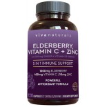 ขาย Elderberry, Vitamin C, Zinc, Vitamin D 5000 IU & Ginger by Viva Naturals