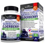 ออลเดอร์เบอร์รี่ Sambucus Elderberry Capsules with Zinc & Vitamin C by BioSchwartz