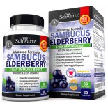ออลเดอร์เบอร์รี่ Sambucus Elderberry Capsules with Zinc & Vitamin C by BioSchwartz