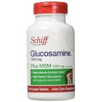 กลูโคซามีน  ยี่ห้อ Schiff Glucosamine 1500mg Plus MSM 1500mg and Hyaluronic Acid, Joint Supplement, 150 Count