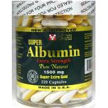 ขาย albumin Vital Super Albumin Extra Strength Pure Natural 1,500mg 200 capsules
