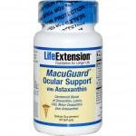 Astaxanthin อาหารเสริม ยี่ห้อ Life Extension, MacuGuard Ocular Support with Astaxanthin, 60 Softgels