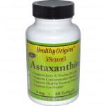 แอสต้าแซนทิน Healthy Origins, Astaxanthin, 4 mg, 60 Softgels