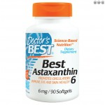ซื้อ Astaxanthin ยี่ห้อ Doctor's Best, Best Astaxanthin 6, 6 mg, 90 Softgels