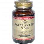 ขาย Astaxanthin Solgar, Astaxanthin, 5 mg, 60 Softgels