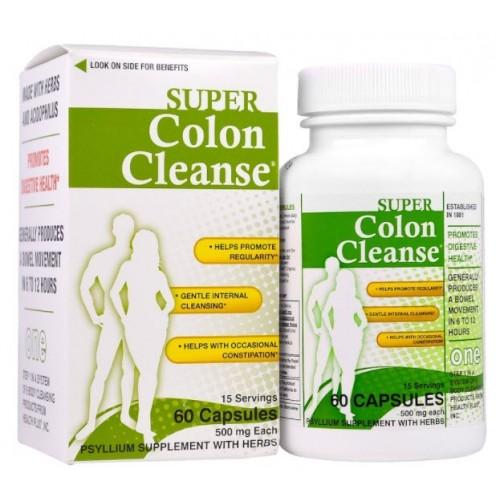 อาหารเสริม ดีท็อก Health Plus Inc, Super Colon Cleanse, 500 mg, 60 Capsules