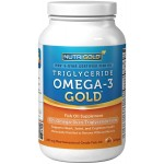 ฟิชออย Omega-3 Fish Oil 180 Softgels - 1000 mg EPA + DHA with 70% Omega-3s Liquid Capsules, by Nutrigold ราคาถูก
