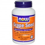 ขายอาหารเสริม grape seed Now Foods, Grape Seed, Standardized Extract, 180 Vcaps