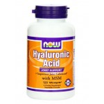 Hyaluronic acid NOW Foods Hyaluronic Acid and MSM, 120-Vcaps