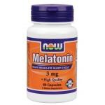 เมลาโทนิน melatonin ยี่ห้อ NOW Food Melatonin 3 mg 60 Capsules
