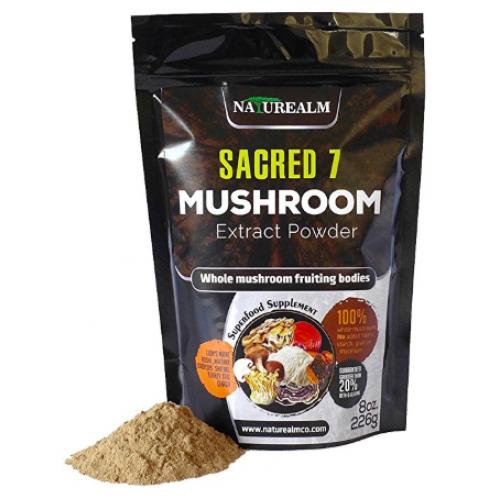อาหารเสริม เห็ด Sacred 7 Organic Mushroom Extract Powder