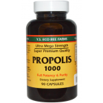 Propolis ยี่ห้อ Y.S. Eco Bee Farms, Propolis 1000, 90 Capsules