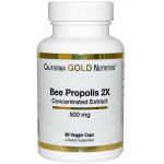โปรพอลิส ราคาประหยัด ยี่ห้อ California Gold Nutrition, Bee Propolis 2X, 500 mg, 90 Veggie Caps