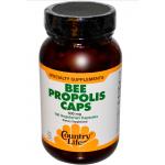 โปรพอลิส Propolis Country Life, Gluten Free, Bee Propolis Caps, 500 mg, 100 Veggie Caps