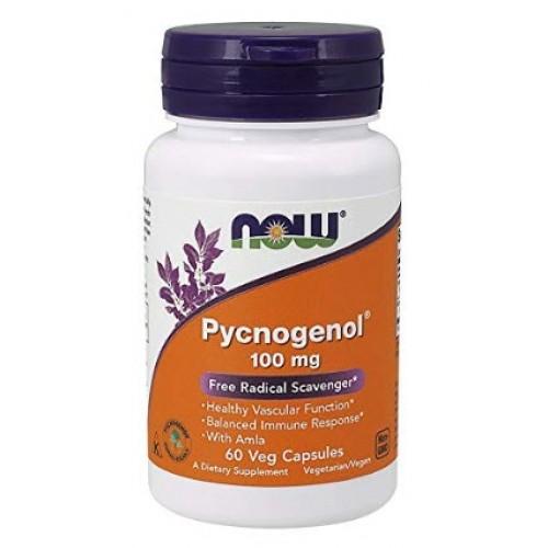 สารสกัดเปลือกสน ยี่ห้อ NOW Pycnogenol 100mg, 60 Veg Capsules