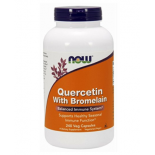 เควอซิทิน NOW Quercetin with Bromelain,240 Veg Capsules