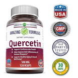 ขาย เควอซิทิน Quercetin 500 Mg 120 Vcaps by Amazing Nutrition