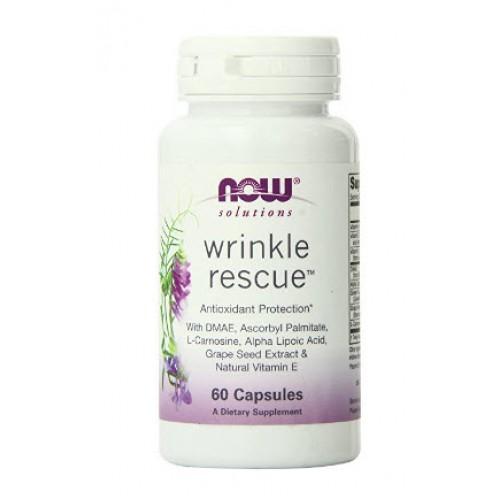 ผลิตภัณฑ์บำรุงผิว Now Foods Wrinkle Rescue Capsules, 60-Count ราคาถูก