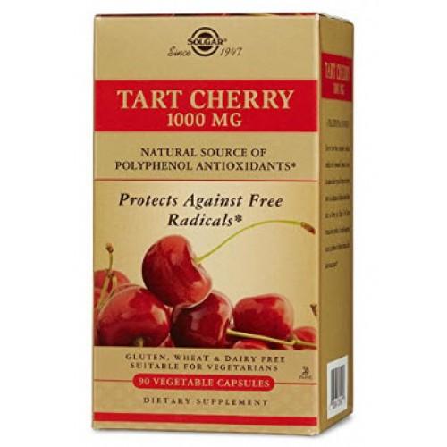 ผลิตภัณฑ์บำรุงผิว Solgar Tart Cherry Vegetable Capsules, 1000 mg, 90 Count