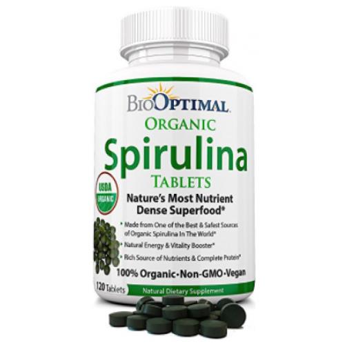 สไปรูลิน่า ยี่ห้อที่ขายดีเป็นอันดับที่ 4 ของอเมริกา BioOptimal Spirulina Tablets