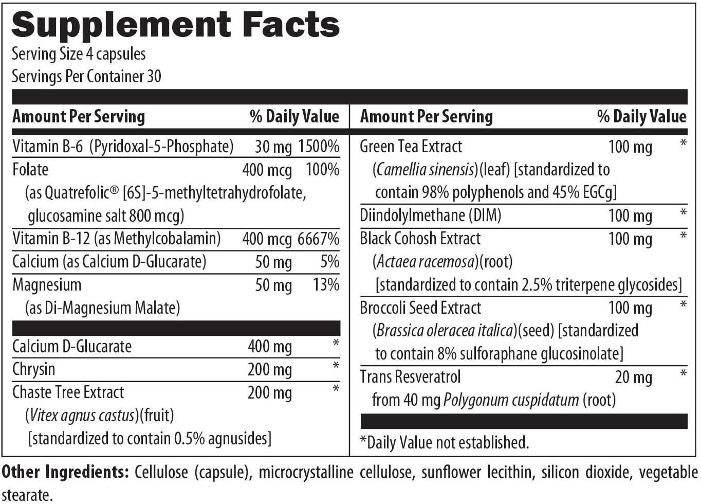 แบล็กโคฮอสDesigns for Health FemGuard Balance Herbal Hormonal Female Hormone Balancing Formula, 120 Vegetarian Capsules