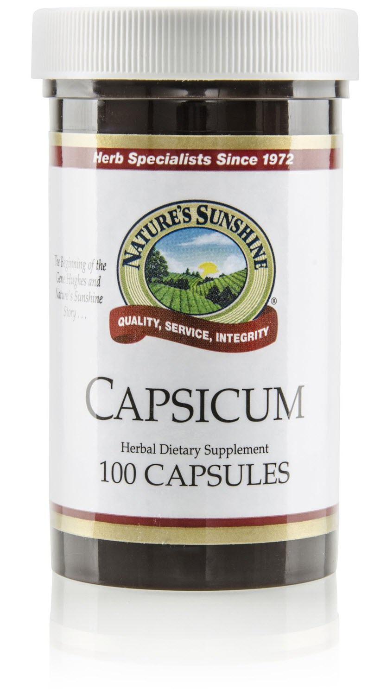 อาหารเสริม Capsaicin ยี่ห้อที่ขายดีเป็นอันดับที่ 5 ของอเมริกา สารสกัดพริก Nature's Sunshine Capsicum, 100 caps, Kosher by Nature's Sunshine