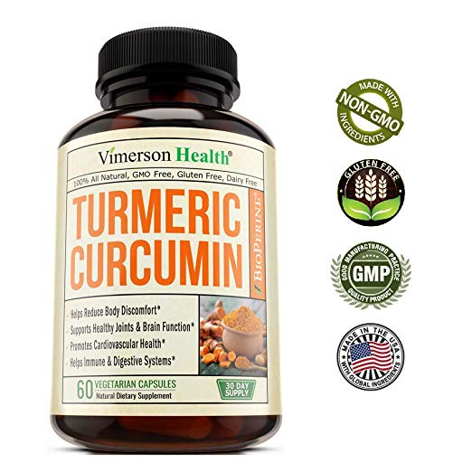 Turmeric Curcumin with Bioperine Joint 60 Capsules Pain Relief by Vimerson Health