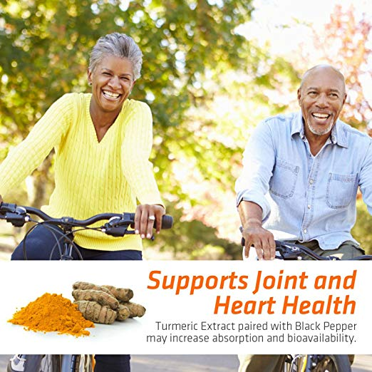 Turmeric Curcumin 120 Capsules by Nature's Nutrition support joint and hearth health