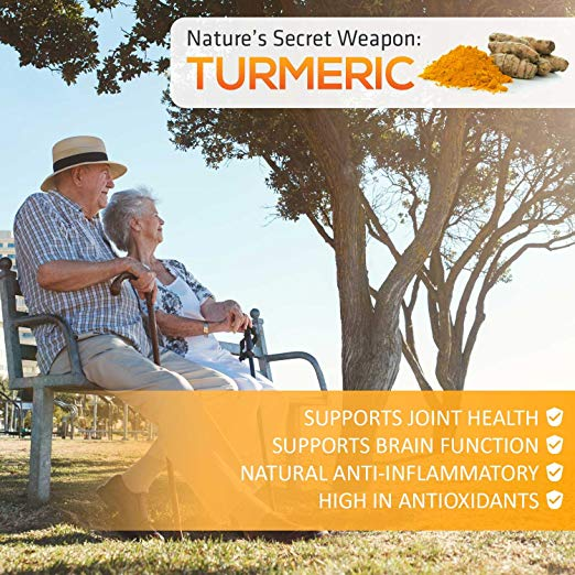 Turmeric Curcumin 120 Capsules by Nature's Nutrition support joint and hearth health, brain function, antioxidants, anti-inflammatory