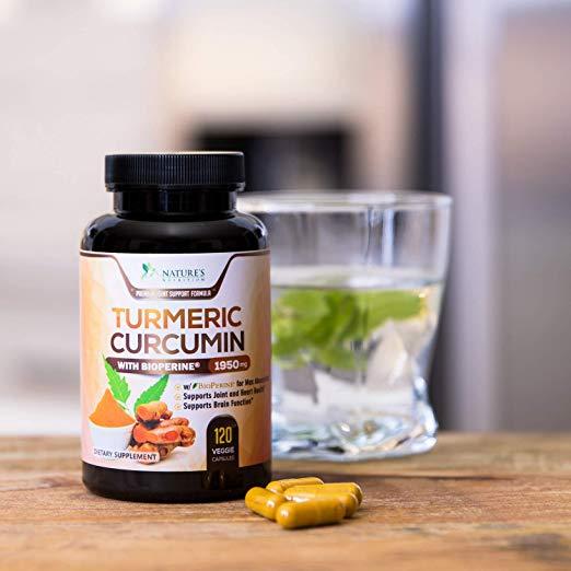 Turmeric Curcumin 120 Capsules by Nature's Nutrition
