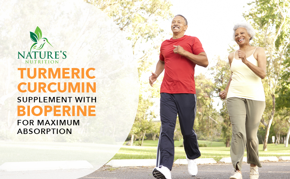 Turmeric Curcumin 120 Capsules by Nature's Nutrition supplement with bioperine for maximum absorption