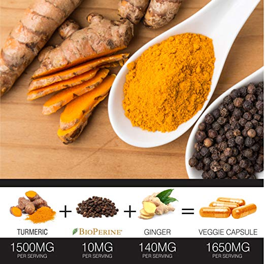 Turmeric Curcumin 120 Capsules by FineVine supplement fact pic