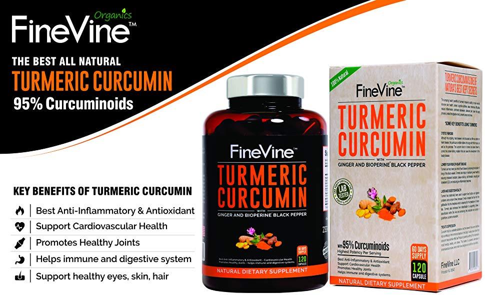 Turmeric Curcumin 120 Capsules by FineVine