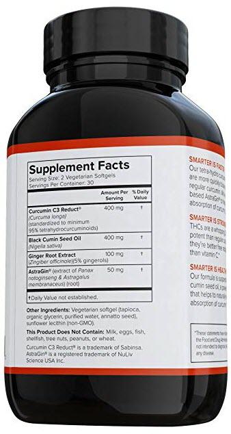 Smarter Curcumin 60 Softgels by SMARTERNUTRITION