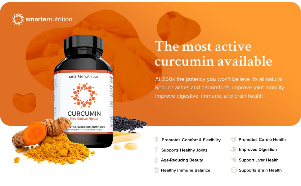 Smarter Curcumin 60 Softgels by SMARTERNUTRITION the most active curcumin available