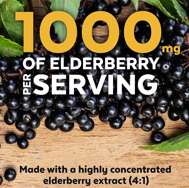 อาหารเสริม sambucus elderberry ยี่ห้อที่ไหนดีเป็นอันดับที่ 5 ของอเมริกาขายElderberry, Vitamin C, Zinc, Vitamin D 5000 IU & Ginger by Viva Naturals