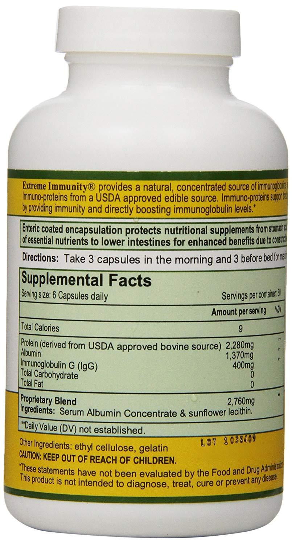 โปรตีนไข่ขาว ยี่ห้อที่ขายดีเป็นอันดับที่ 1 ของอเมริกา จำหน่าย โปรตีนไข่ขาว ยี่ห้อExtreme Immunity Immunoglobulin Albumin Proteins and 585 Amino Acids, 180 Count