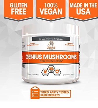 Genius Mushroom – Lions Mane, Cordyceps and Reishi by The Genius Brand
