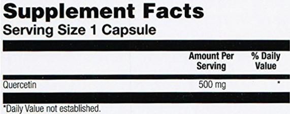เควอซิทินยี่ห้อที่ขายดีเป็นอันดับที่ 4 ของอเมริกา Solaray Quercetin Capsules 90 Count