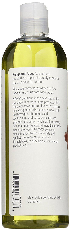 ผลิตภัณฑ์บำรุงผิว Now Foods Grape Seed Oil, 16 Ounce