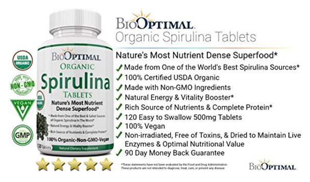 BioOptimal Spirulina Tablets